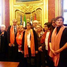 Sala Rossa in #arancione #orange contro la violenza sulle donne #PD #partitodemocratico #turin #25novembre #noviolenzasulledonne #violenzasulledonne #teatro #25n #comuneditorino #salarossa #donne #elette #stopviolenzaalledonne http://ift.tt/1jfYTtq