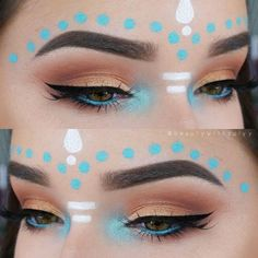 [ Halloween Makeup : Illustration Description Music Festival Inspired Summer Outfits Wearing Tips/Makeups/Hairstyles Ideas You Need Try Coachella 2017 – Makeup Goals, Makeup Inspo, Makeup Art, Makeup Inspiration, Beauty Makeup, Makeup Ideas, Huda Beauty, Makeup Tutorials, Alien Makeup