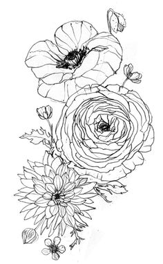 I recently made this tattoo design for a client-turned-friend in Frankfurt, Germany. She requested poppies, dahlias, and buttercups. We got a bit lost in translation at one point and I learned that...