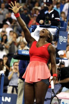Serena Williams defeated Victoria Azarenka to win the 2013 Women's US Open title for the 5th time on September 8th in Queens, NY. After a longer than average match, Williams literally jumped for joy when she won. Go Serena!