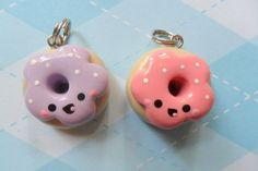 Kawaii Charm Doughnut Best Friends. $9.00, via Etsy.