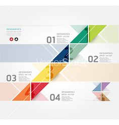 Modern design minimal style infographic template vector 1463423 - by pongsuwan on VectorStock®