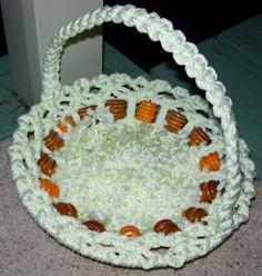 Macrame basket: completed 9-2-2012.