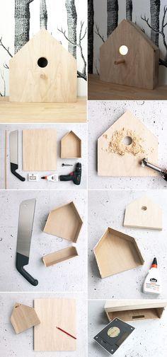 GIngered Things, DIY, Craft, Bird Feeder, house, wood, lamp, decoration, Deko, Vogelhäuschen, Lampe, Bewegungsmelder, Basteln