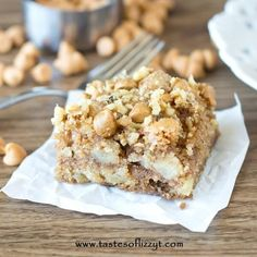 Apple Butterscotch Snack Cake via @tastesoflizzyt