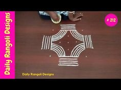 #212-Chukki Rangoli Design | padi kolam with 7 dots | geethala muggulu easy | margazhi kolam designs - YouTube