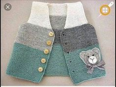 Baby Knitting Patterns Cardigan Hand knit baby vest /cardigan / with Teddy.Handgestrickte Babyweste / Strickjacke - Diy StillDiscover thousands of images about Ayşen YalınızBebe Yeleği, baby waistcoat, bKnit baby vest, garter stitch with pompoms, Baby Knitting Patterns, Hand Knitting, Knit Vest, Crochet Cardigan, Baby Outfits, Casual Outfits, Baby Boy Vest, Baby Boys, Baby Pullover