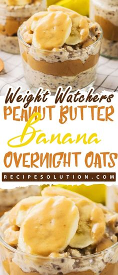 Ingredients cup rolled oats 1 cup almond milk 1 tablespoon chia seeds teaspoon vanilla extract teaspoon ground cinnamon 1 tablespoon honey, (maple syrup for a vegan option) … Overnight Oats Almond Milk, Low Calorie Overnight Oats, Weight Watcher Overnight Oats, Overnight Oats In A Jar, Weight Watchers Breakfast, Weight Watchers Desserts, Healthy Peanut Butter, Peanut Butter Banana, Oatmeal Recipes