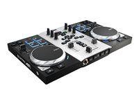 Hercules DJ Control AIR S Series El #DJ control con controles táctiles renueva su aspecto con 8 pads progresivos, jog wheels con detección de presión y control sin contacto para mezclar en el aire