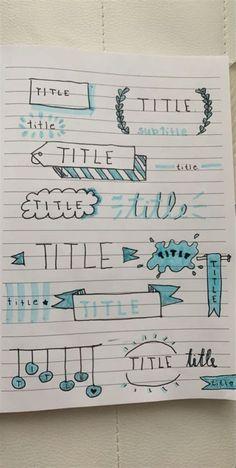 Bullet Journal School, Bullet Journal Headers, Bullet Journal Banner, Bullet Journal Notebook, Bullet Journal Ideas Pages, Bullet Journal Inspiration, Journal Fonts, Bullet Journal Lettering Ideas, Bullet Journal Aesthetic