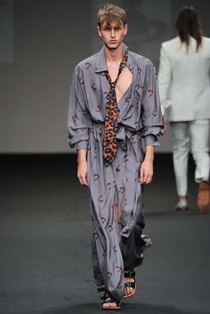 Andreas Kronthaler for Vivienne Westwood Spring 2016 Menswear Fashion Show