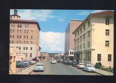 1950's CARS ALBUQUERQUE NEW MEXICO DOWNTOWN STREET SCENE VINTAGE POSTCARD AUTOS