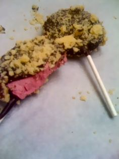 This specialty pop is made with Blackberry Cheesecake, dipped in Dark Chocolate, and coated with Vanilla Cake Crumbs. http://www.bakeshopoakland.com/