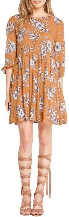 Mai Tai Mustard Floral Dress