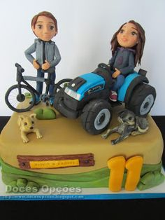 Doces Opções: Bolo para o aniversário dos gémeos Cake, Design, Decorating Cakes, Sweet Pastries, Agriculture, Pie Cake, Pastel, Cakes, Tart