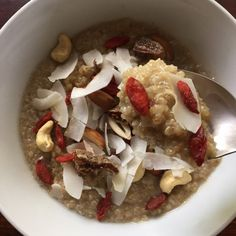 Here's an exotic breakfast idea that will nourish your body and awaken your senses! This quinoa porridge is choc-a-block full of goodness with just about all Good Food, Yummy Food, Yummy Recipes, Quinoa Porridge, Orange Blossom Water, Cinnamon Powder, Cinnamon Sticks, Breakfast Recipes, Oatmeal