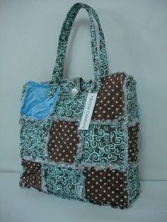 pintrest big shot rag quilt bag | rag bag patchwork purse-fun, I know who I am making this for...