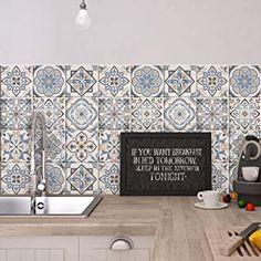 Adh/ésive d/écorative /à carreaux pour salle de bains et cuisine Stickers carrelage collage des tuiles adh/ésives Ginevra PS00152-P 36 PIECES carrelage adh/ésif 10x10 cm