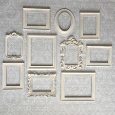 Picture Perfect Vintage Frames Neutral Bedrooms, Neutral Bedroom Decor, Diy Bedroom Decor, Home Decor, Cool Rooms, Window Bed, Window Seats, White Picture Frames, Vintage Frames