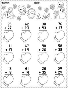 Snowman Math Worksheets Awesome Kindergarten Worksheets Math Literacy Winter and No Prep Kindergarten Addition Worksheets, First Grade Math Worksheets, Printable Math Worksheets, Second Grade Math, School Worksheets, Worksheets For Kids, Coloring Worksheets, Math For Kids, Students