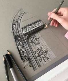 Awesome architecture design By @phoebeatkey _____________________ ▪ Follow ▪@drawing.expression for more art. _____________________ ▪ ⚠We…