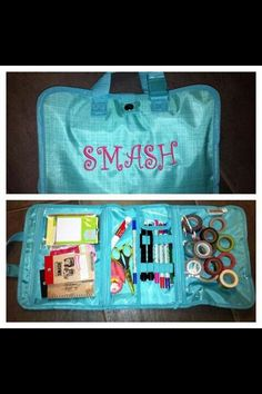 Smash Book on the go! with Thirty-One's Timeless Beauty Bag. This color is retired but visit www.mythirtyone.com/megwills/ for new Spring colors.