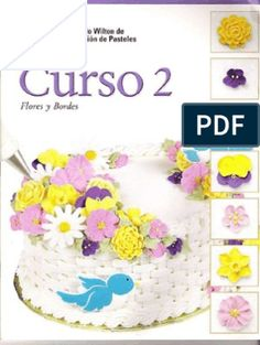 How to guide for making flowers and borders by margiemg in Types > Instruction manuals y cake decorating Fondant Cake Designs, Cupcake Cakes, Cupcakes, Cake Decorating Classes, Icing Frosting, Bakery Business, Buttercream Flowers, Cookies And Cream, Dessert Recipes