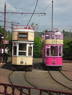 seaton trams - we've just been on the pink one!