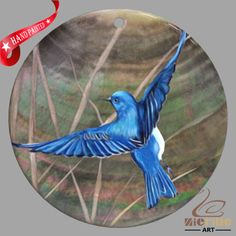 HAND PAINTED BIRD SHELL FASHION NECKLACE PENDANT ZP30 01404 #ZL #PENDANT
