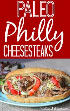 Learn how to make this authentic-tasting Philly Cheesesteak sandwich. #glutenfree #paleo #healthy