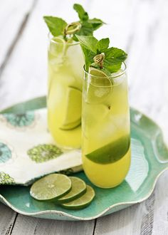Pineapple Limeade Cooler Recipe from @Katie Goodman of Good Life Eats