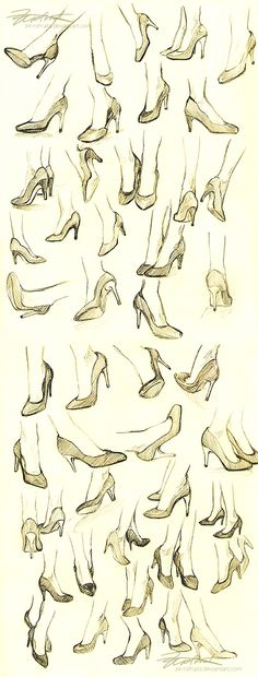 "clxcool: "" ghibli-and-otakuness: "" anatoref: "" High Heels Row Left Right Row 2 Row Left, Right Row (Source Unknown) Row 5 Row 6 "" "" I'm going to need this for later since I'm. Drawing Skills, Drawing Lessons, Drawing Tips, Figure Drawing, Drawing Reference, Drawing Sketches, Art Drawings, Sketching, Drawing Tutorials"
