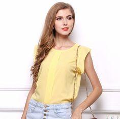 Dámská elegantní blůza žlutá – dámské blůzy + POŠTOVNÉ ZDARMA Na tento  produkt se vztahuje nejen 1be87dfde21