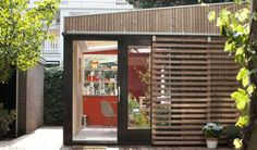 BLOOT architecture garden pavilion 3 Office and Guest House in a Modern Garden Pavilion Garden Pavilion, Casas Containers, Modern Garage, Tiny Studio, Garden Studio, Garden Office, Architecture Design, Modern Design, House Design