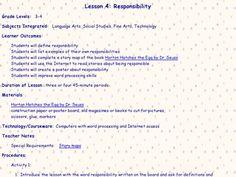 Responsibility Lesson Plan | Lesson Planet