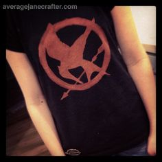 How-To: Hunger Games Mockingjay T-Shirt with Freezer Paper Stencil and Bleach Pen