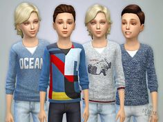 Sweater for Boys P01  Found in TSR Category 'Sims 4 Male Child Everyday'