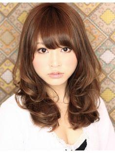 Kawaii Hairstyles, Permed Hairstyles, Girl Hairstyles, Medium Long Hair, Long Layered Hair, Ash Hair, Japanese Hairstyle, Natural Curls, Curly Hair Styles
