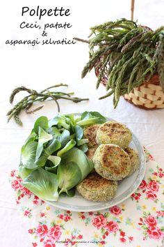 Profumo di cannella e cioccolato: Polpette vegetariane con ceci, patate e asparagi selvatici