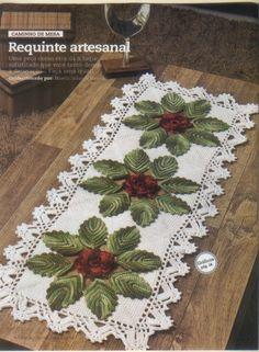 Mania-de-Tricotar: Caminho de mesa em crochê