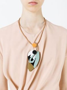 Marni leaf pendant necklace