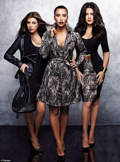 Kim Kardashian, along with sisters Khloe and Kourtney, has produced a clothing range at Dorothy Perkins. The Kardashian Kollection, as it's been called, has been released just in time for Kristmans. Kardashian Family, Kardashian Style, Kardashian Jenner, Kourtney Kardashian, Kardashian Clothing, Sister Poses, Sister Sister, Kardashian Kollection, Fashion Line