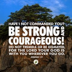 """Have I not commanded you? Be strong and courageous! Do not tremble or be dismayed, for the LORD your God is with you wherever you go."" —Joshua 1:9 Watch Dr. Charles Stanley's message, ""Courage for the Difficult Tasks,"" at www.intouch.org/watch."