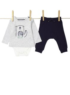 491d6502eca4c Baby Boys Long Sleeved Bodysuit and Joggers Set British Home, Long Sleeve  Bodysuit, Outfit
