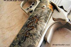 Wicked Grips from Davison MI. 1A GOLD INLAY