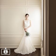 #Korea #prewedding #bride  Photo by TIMETWO Studios See more of their classy studio photos at OneThreeOneFour. Find a wedding photographer at www.onethreeonefour.com