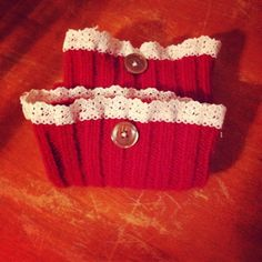 Easy boot cuffs from old sweaters..TIP...zig zag edges on sewing machine to allow for stretch.