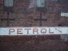 """"""" Fonts on walls. Petrol in Liverpool Design Museum, Liverpool, Fonts, Sunday, Industrial, Colours, Train, Writing, Illustration"""