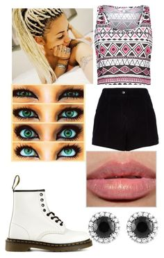 """Untitled #431"" by lea113111 ❤ liked on Polyvore featuring River Island, Dr. Martens and Beverly Hills Charm"