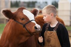 ) could be mine just insert my boys Probably blonde, with angus hereford crossed cattle raised on the family farm, getting him ready to show during the summer at the county fair in or FFA. Farm Photography, Photography Themes, Agriculture Pictures, Farm Family Pictures, Family Photos, Farm Kids, Show Cattle, Beef Cattle, Chores For Kids